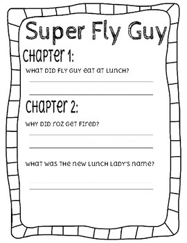 Super Fly Guy Comprehension Questions