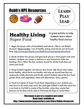 Super Food - Food Selection Activity