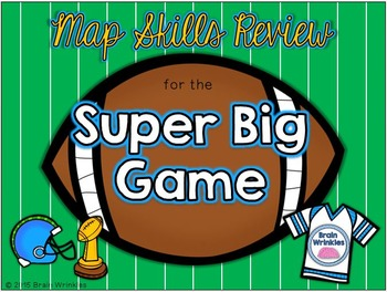 Super Football Game - Map Skills Review