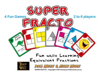 Super Fracto - Uno style Fraction Card Game - 192 playing cards