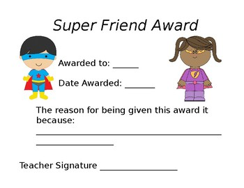 Super Friend Award