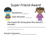 Super Friend Award