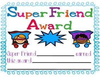 Super Friend Award Pack
