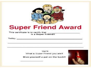 Super Friend Certificate