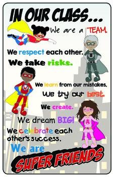 Super Friends Poster {FREEBIE!}