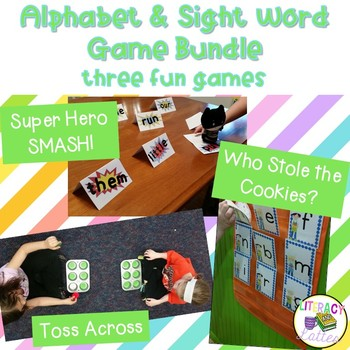 Super Fun Centers - Alphabet and Sight Word Game Center Me