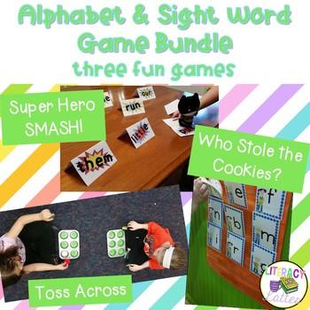 Alphabet and Word Literacy Centers - Game Center Mega Bundle