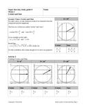 Super Fun Easy Study Guide 8, Cosine and Sine