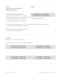 Super Fun Easy Worksheet 5, Scientific Notation