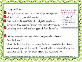 Super Fun Letter and Sound Chant Poems