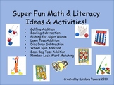 Super Fun Math & Literacy Ideas & Activities - Kindergarten