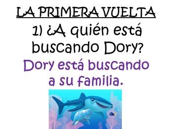 Super Fun Spanish Movie Scenes Game - Finding Dory - Buscando A Dory
