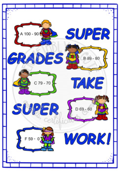 Super Grades Take Super Work! - Grade Chart