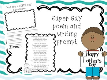 Super Guy poem and writing prompt