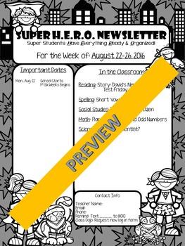 Super H.E.R.O. Newsletter Template