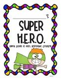 Super H.E.R.O. Take Home Folder Cover Page and Letter