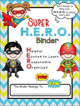 Super H.E.R.O. folder binder cover