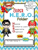 **EDITABLE** Super H.E.R.O. Folder Binder Cover