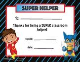 Super Helper Award