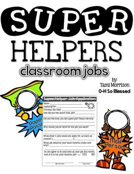 Super Helpers Classroom Job System [Superhero Kids!]