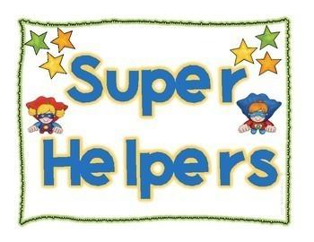 Superhero Helpers Job Board Set