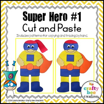 Super Hero #1 Cut and Paste