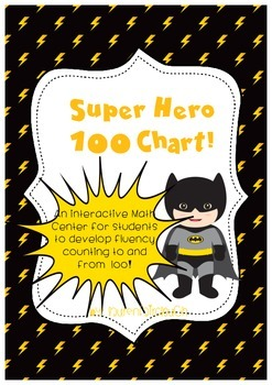 Super Hero 100 Chart Math Game