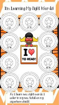 Super Hero 1st Grade Data Tracker