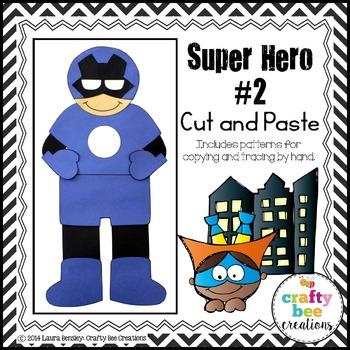 Super Hero #2 Cut and Paste
