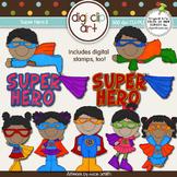 Super Hero 2-  Digi Clip Art/Digital Stamps - CU Clip Art