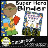 Super Hero Any Grade Binder and Spine Set (Editable)