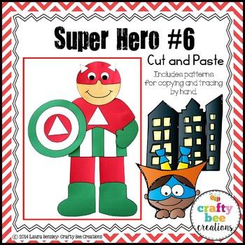Super Hero #6 Cut and Paste