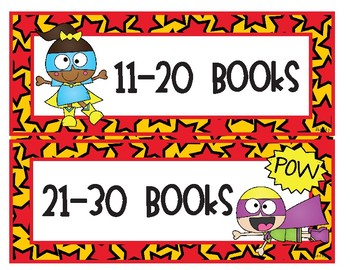 Super Hero Accelerated Reader Tracker