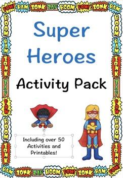Super Hero Activity Pack