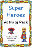 Super Hero Activity Pack