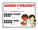 Super Hero Addition Strategy: Adding from Nine Mental Math Strategy