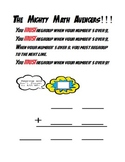 Super Hero Addition Template & Poem for Regrouping