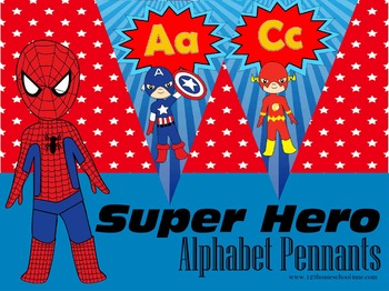 Super Hero Alphabet Pennant