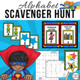 Super Hero Alphabet Scavenger Hunt