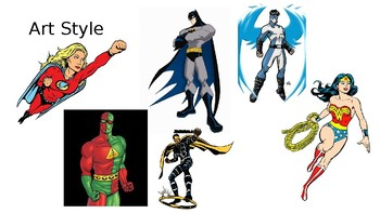 Super Hero Art Lesson Powerpoint