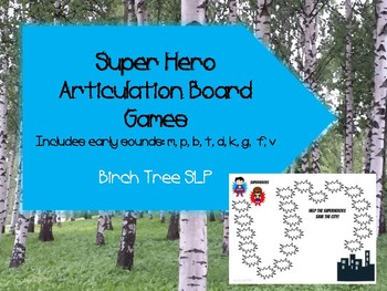 Super Hero Articulation Board Game Early Sounds