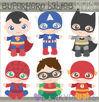Super Hero Babies Clip Art