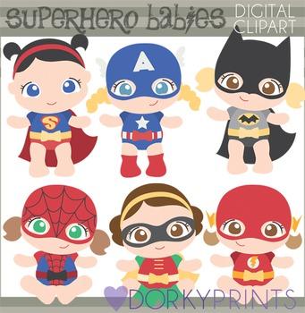 Super Hero Babies Clip Art