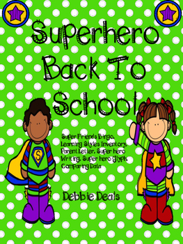 Superhero Back To School Activities