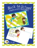 Super Hero Back to School Postcard FREEBIE!