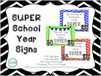 Super Hero Back to School Signs