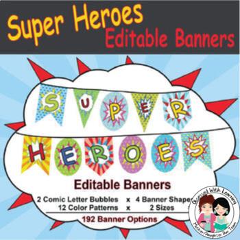 Super Hero (Editable) Banners