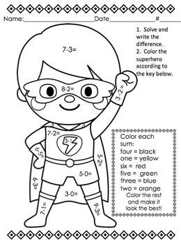 Back to School Basic Skill Packet:  Superheroes Theme