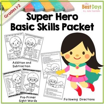 Super Hero Basic Skill Packet