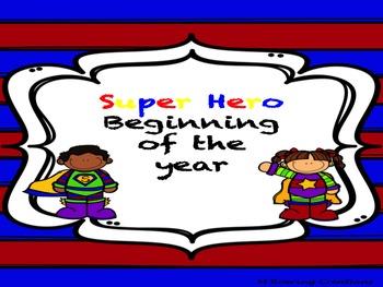 Super Hero Beginning of the Year Materials